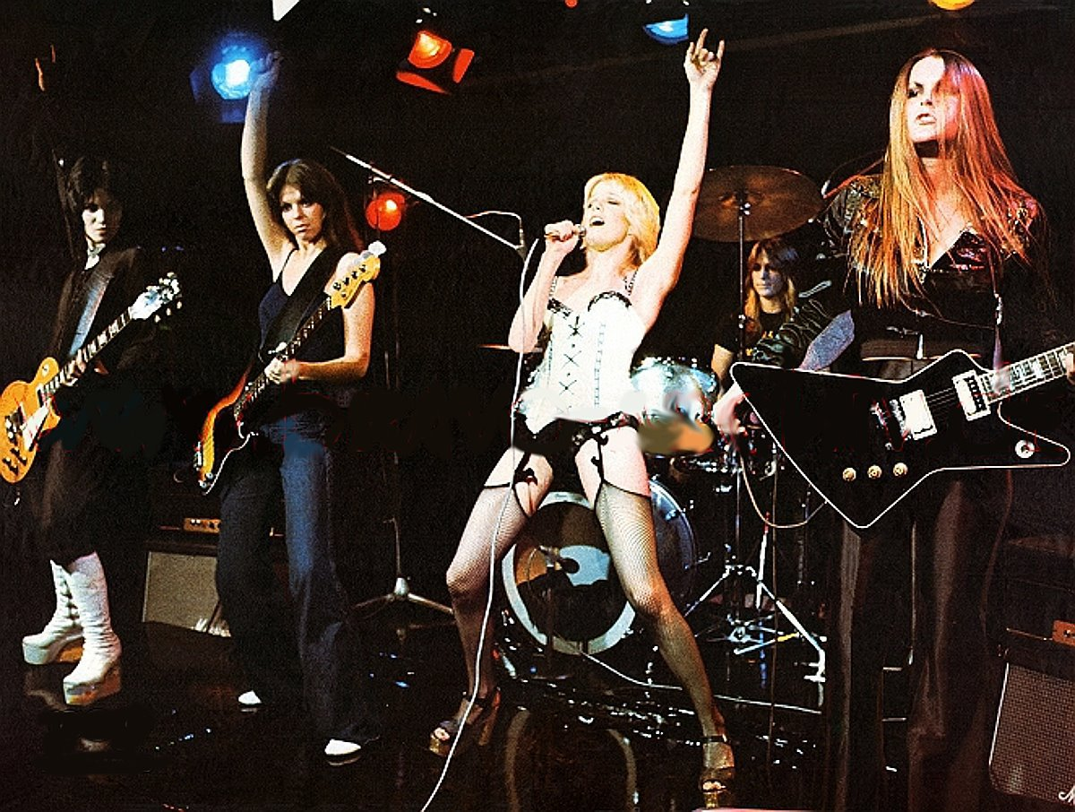 The Runaways performing - music legends I would time travel to see