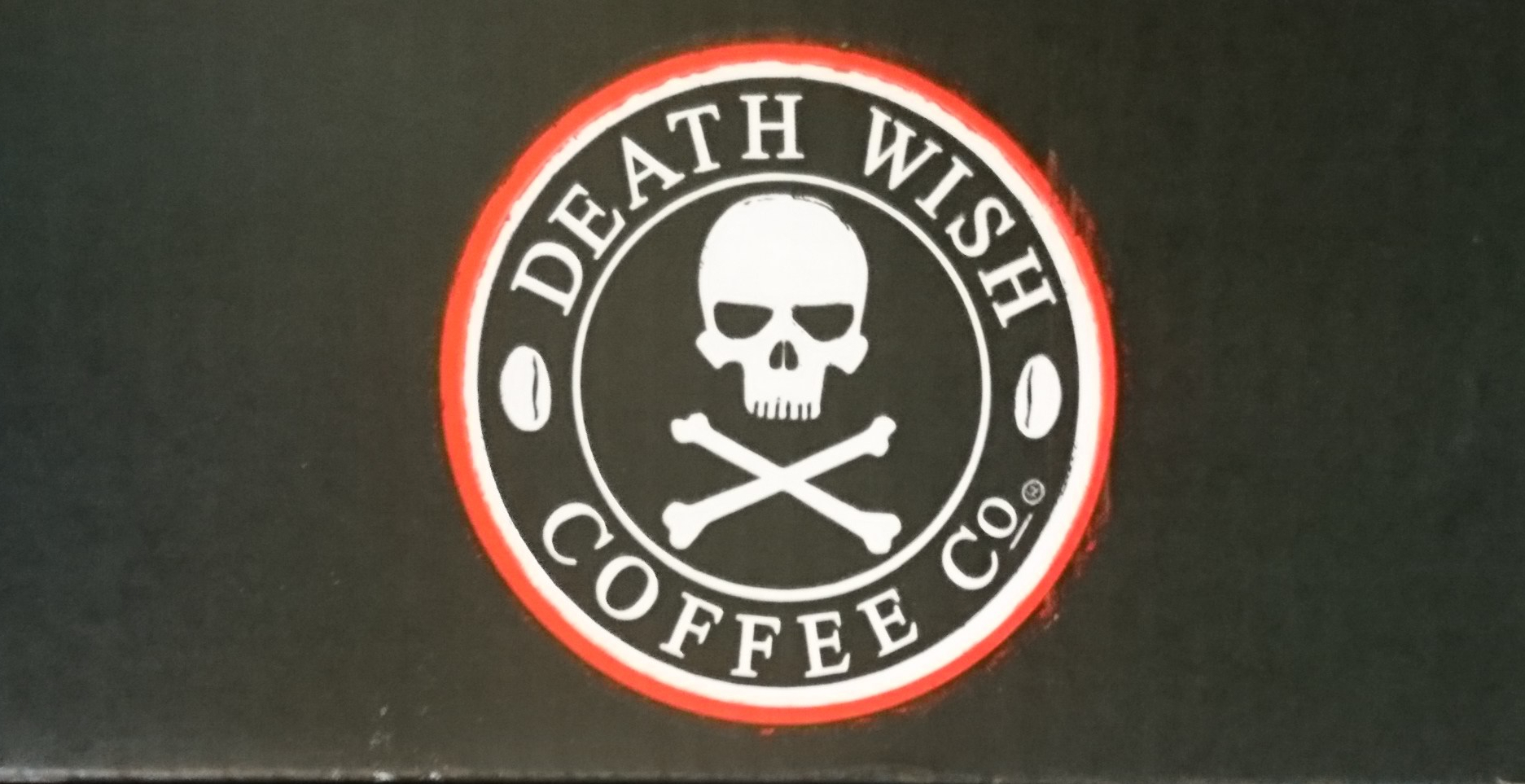 death wish coffee co logo with skull