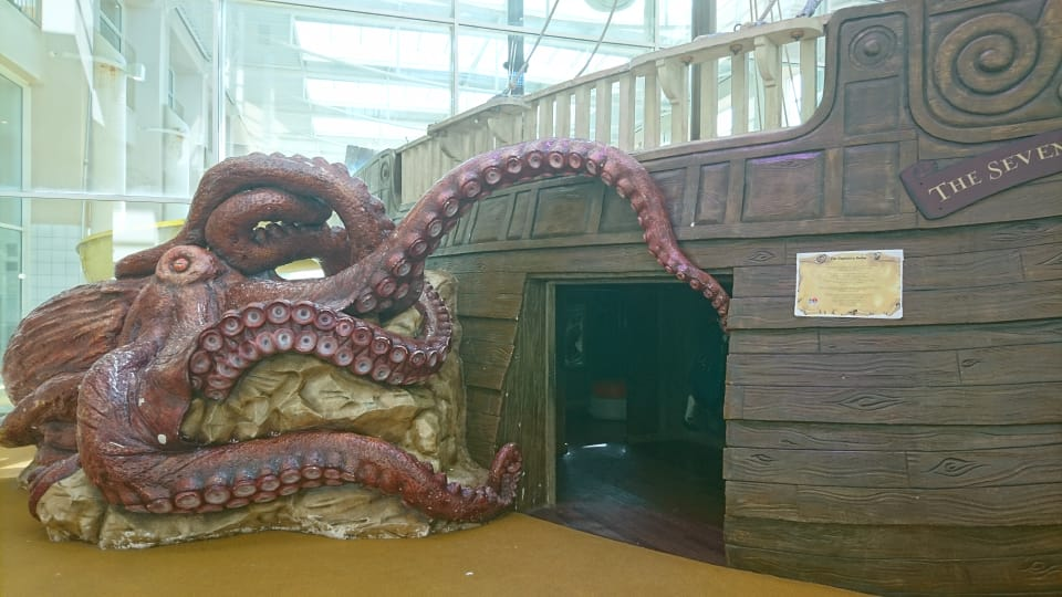 kraken attacking a ship in disney explorers hotel paris - disneyland bucket list