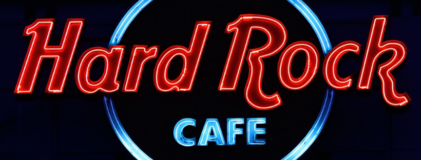 hard rock cafe neon sign