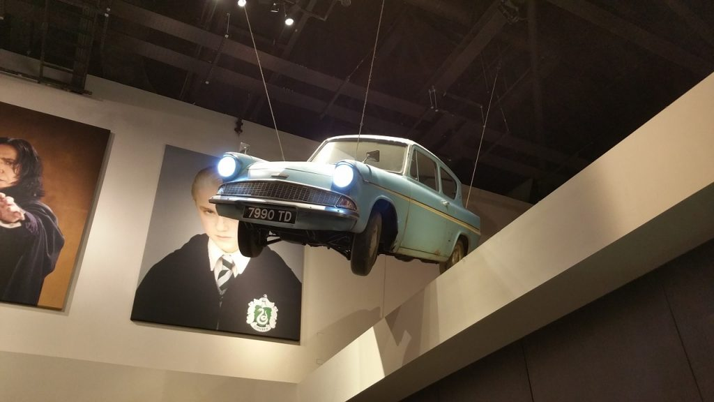 the harry potter studio tour london, flying car, harry potter things to do before you die