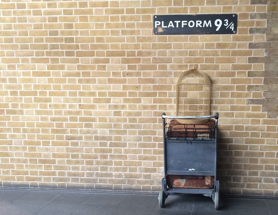 platform 9 3/4s at kings cross station  - harry potter bucket list