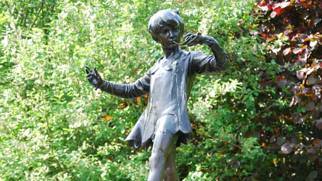 Peter Pan Statue kensington gardens hype park - literary spots in london