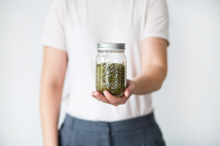 reusable zero-waste mason jar