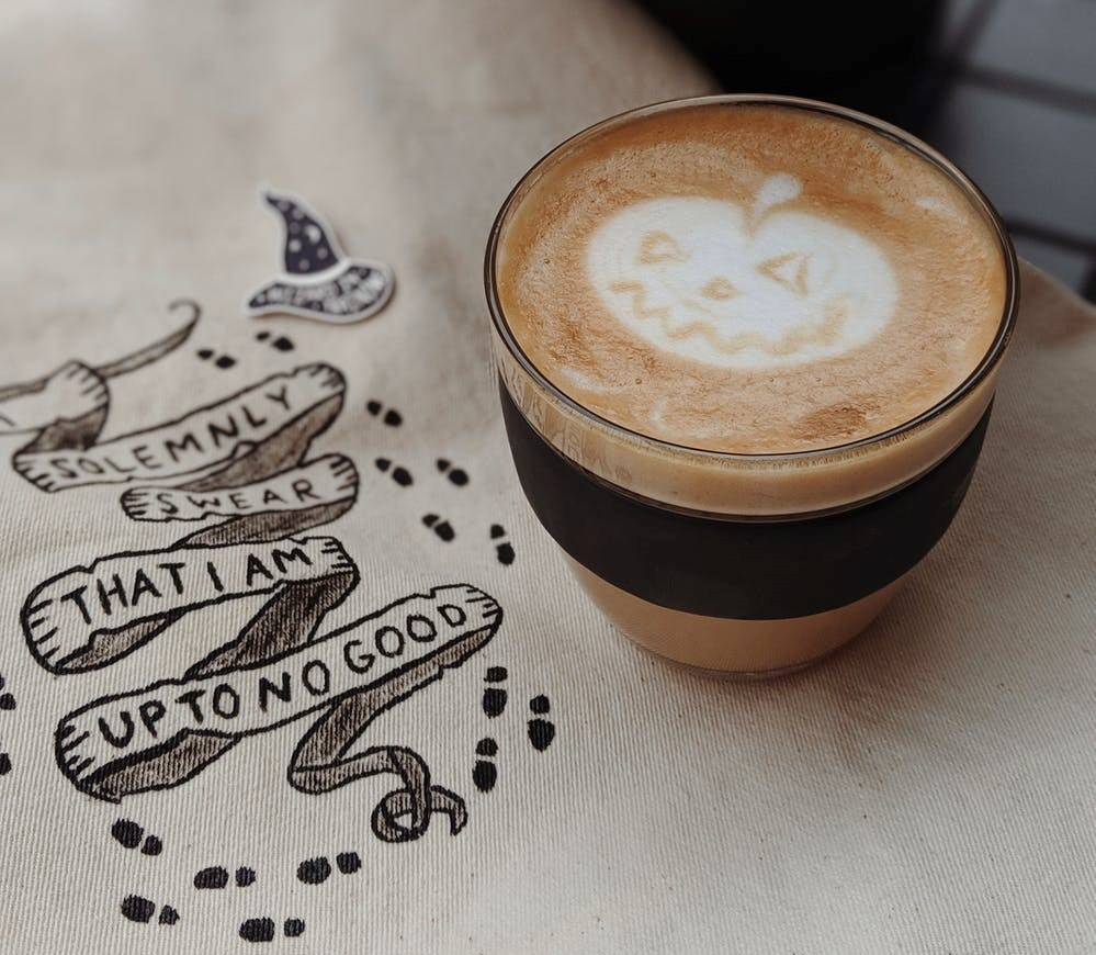 halloween pumpkin coffee - ultimate alternative California bucket list