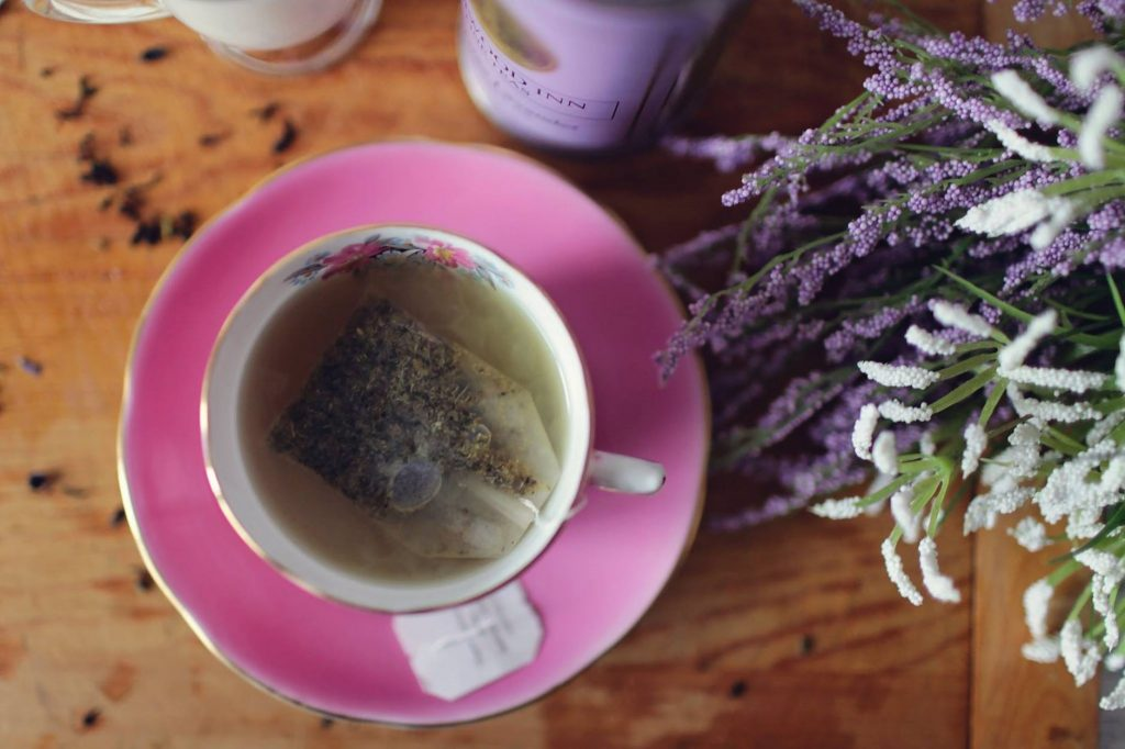 lavender tea bag - how to drink tea and coffee sustainably