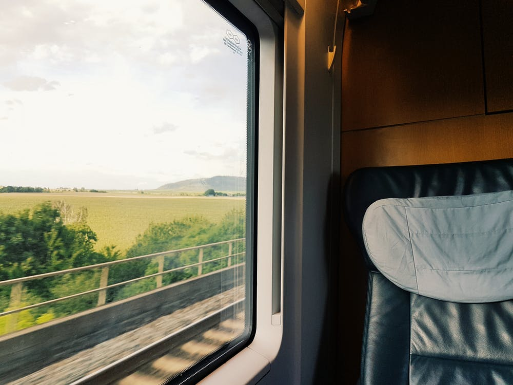 train - non-vegan ways to be eco-friendly