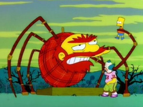 Halloween TV Specials - Treehouse of Horror the Simpsons. Groundskeeper Willie is trying to kill Bart