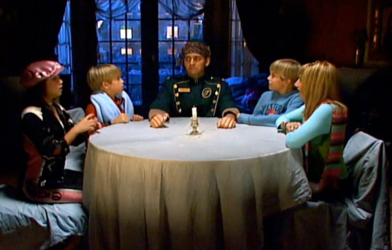 Suite Life of Zack and Cody; the ghost in suite 613. the kids hold a seance - best Halloween TV specials