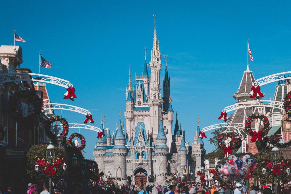 Disneyland during Christmas