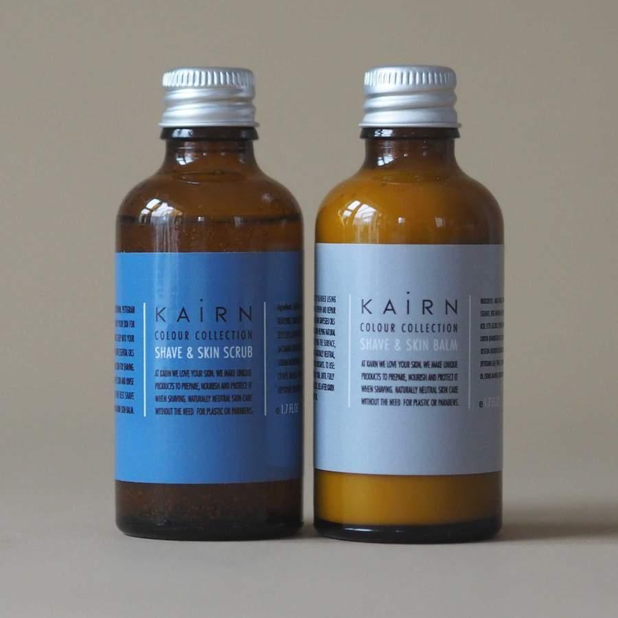 two botthes of skin balk