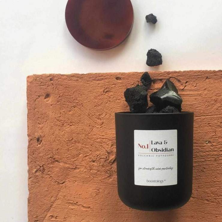 lava & obsidian volcanic potpourri for self-care valentine's day gifts