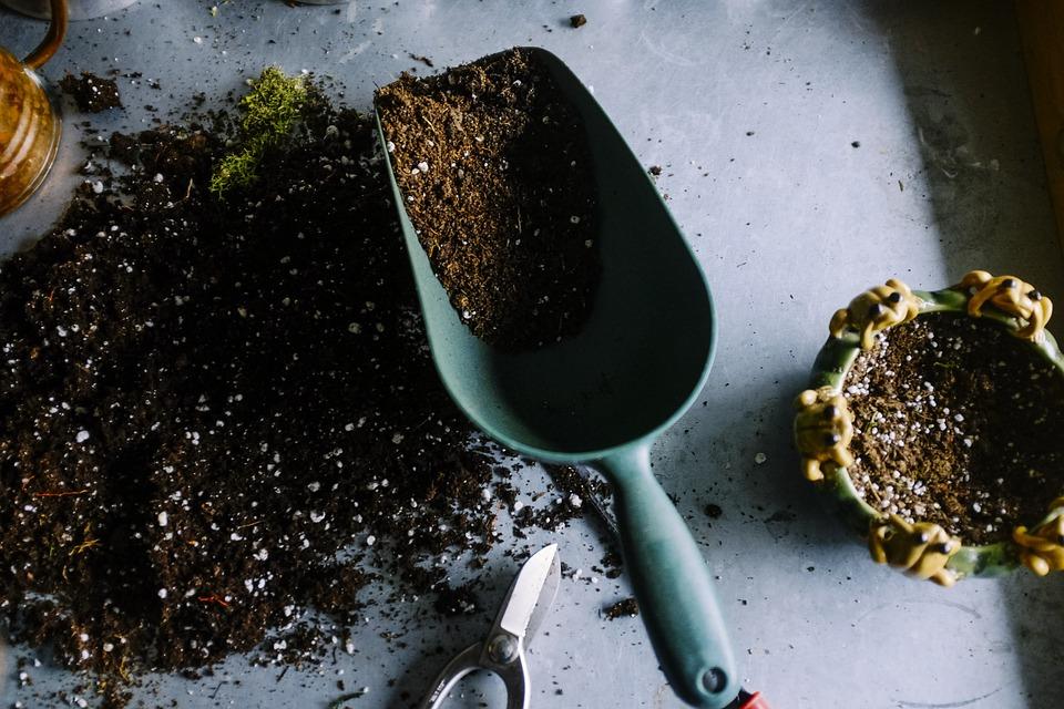 soil and shovel